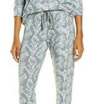 Nwt Pj Salvage Gray/blue Snakeskin Peachy Sweater-Knit Pajama/lounge Set L Soft Photo