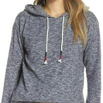 Nwt Pj Salvage Heather Navy Blue Hoodie Sweatshirt Brushed Jersey Top 1x So Cozy Photo