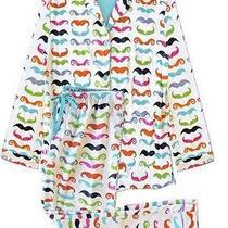 Nwt Pj Salvage 'Mustache' Flannel Pajama Set - Size Medium Photo