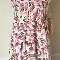 Nwt Pj Salvage Pink Leopard Print Terry Cloth Bamboo Beach Cover-Up Dress S Photo