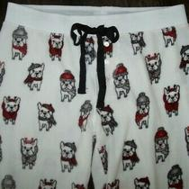 Nwt Pj Salvage Thermal Fleece Jogger Pajama/lounge Pants L French Bull Dogs  Photo
