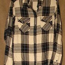 Nwt Plaid Lightweight Flannel Boyfriend Shirt From Sanctuary Size Xs Photo