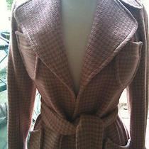 Nwt Plenty by Tracy Reese Anthropology Audrey Hepburn Style Gingham Print Coat 2 Photo