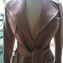 Nwt Plenty by Tracy Reese Anthropology Audrey Hepburn Style Gingham Print Coat 2 Photo