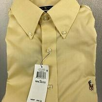 Nwt Polo Ralph Lauren Core Replen Ii Yellow Easy Care Dress Shirt size15.5 32/33 Photo
