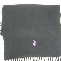 Nwt Polo Ralph Lauren Men's Scarf Black 100% Lambs Wool Photo
