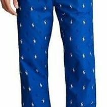 Nwt Polo Ralph Lauren Royal Blue/navy Pony Logo Woven Pajama/lounge Pants Men L Photo