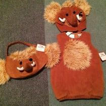Nwt Pottery Barn Kids Woolly Mammoth Costume & Treat Bag 2t 3t Free Shipping Photo