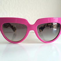 Nwt Prada Poeme Sunglasses Spr 29p Sl1-0a7 Neon Pink Havana Brown Photo