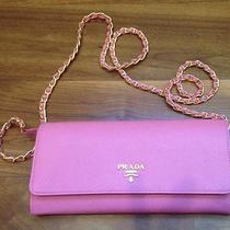 Nwt Prada Wallet With Chain Crossbody in Geranium Pink Gorgeous Photo
