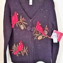 Nwt-Pretty or Ugly Black Christmas Sweater Women by Classic Elements Medium Photo