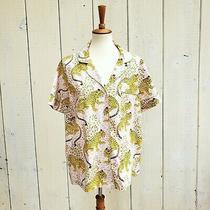 Nwt Printfresh Short Sleeve Bagheera Leopard Print Blush Pink Pajama Top Size L Photo