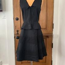 Nwt Proenza Schouler Black Sleeveless Peplum Dress (8) No Reserve Photo