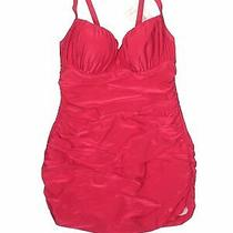 Nwt Profile Blush by Gottex Women Red One Piece Swimsuit 10 Photo