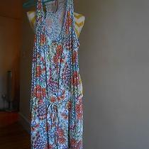 Nwt Profile Blush Size M Multi Color Print Racer Back Drawstring Waist Romper Photo