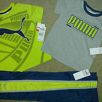 Nwt Puma 2 Pieces Top & Pant 3 Pc Outfit Set for Boys  Size 4 Msrp 52 Photo