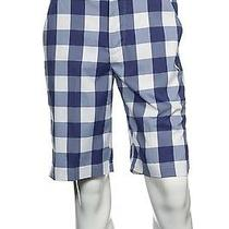 Nwt Puma 'Buffalo Check Tech' Purple Checked Flat Front Walking Shorts 30 70 Photo