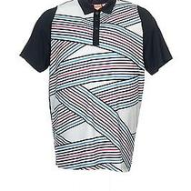 Nwt Puma 'Duoswing' Black Striped Polo Shirt Golf 2xl 80 Photo