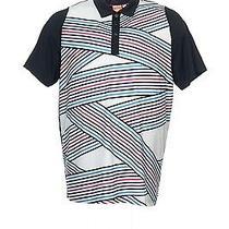 Nwt Puma 'Duoswing' Black Striped Polo Shirt Golf 2xl 80 Photo