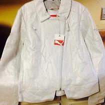 Nwt Puma Ferrari Xl L M. Her Moto Jacket Metallic Silver 500.00 Photo