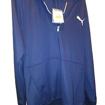 Nwt Puma Men's Tec Full Zip Sporting Hoodie Navy M Photo