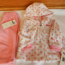 Nwt Puma Plush Pink Jogging Athletic Suit 2 Piece Outfit Baby Girls 3-6 Months Photo
