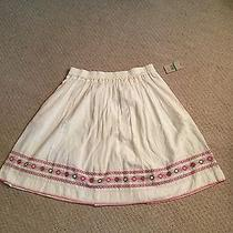 Nwt Pure Dkny Cream Peasant Skirt L Photo