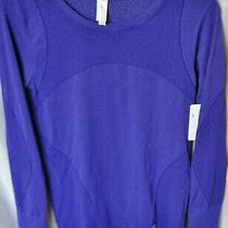 Nwt Purple Long Sleeve Crew Neck Gap Fit Work Out Motion Shirt Top Size Med  45 Photo