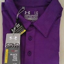 Nwt Purple Under Armour Coldblack Loose Heat Gear Golf Club Polo Shirt Large Lg Photo