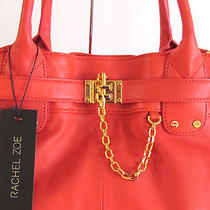 Nwt Rachel Zoe Coral Deux Large Leather Bag Tote With Crossbody Strap 545.00  Photo