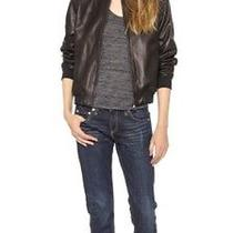 Nwt  Rag & Bone Black Leather Bomber Jacket Small Retail 924.00 Photo