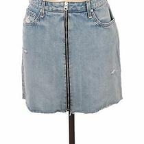 Nwt Rag & Bone Women Blue Denim Skirt 30w Photo