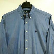 Nwt Ralph Lauren Classics Men's Dress Shirt 15 32/33 Blue Button Down Aldo Photo