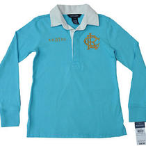 Nwt Ralph Lauren Girls  Solid Rugby Top Size 7 Photo
