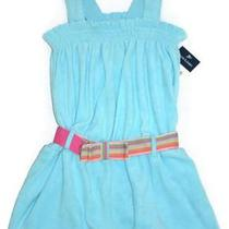 Nwt Ralph Lauren Girls Belted Terry Romper 12 Months Photo