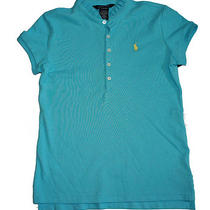 Nwt Ralph Lauren Girls Ruffled Stand Collar Polo Shirt Top Photo