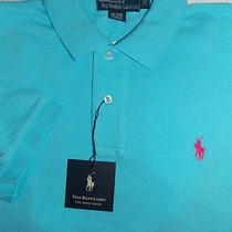 Nwt Ralph Lauren Men's Aqua Polo Golf Shirt Xxl 2xl Short Sleeve  Photo