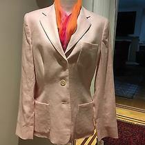 Nwt Ralph Lauren Pink Templeto Blush Linen Blazer Size 6 Msrp 210 Nwt Photo