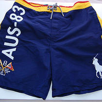 Nwt Ralph Lauren Polo Australia Swim Shorts Board Trunks Big Pony Aqua 32-34 M   Photo