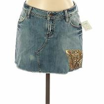 Nwt Rampage Women Blue Denim Skirt 3 Photo