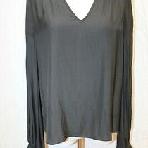Nwt Ramy Brook Sabrina Black Long Sleeve Tunic Top v-Neck Blouse S 345 Photo