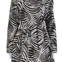 Nwt Rare Lanvin for h&m Animal Print Open Belted Coat Jacket Sz 38 Us 8 Photo
