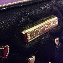 Nwt Rare Only1onebay Betsey Johnson Houdini Black Wallet Gold Hearts Photo