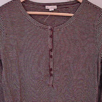Nwt Really Cute & Fun Gap Soft Striped T-Shirt Henley Top Small New Adorable Photo