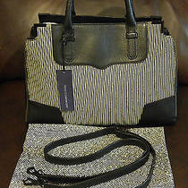 Nwt Rebecca Minkoff Black & White Calf Fur Leather Amorous Satchel Purse 425 Photo