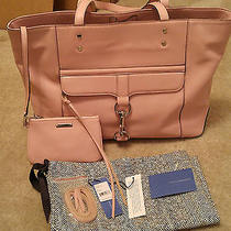 Nwt Rebecca Minkoff Bowery Primrose Pink Leather Tote W/ Coin Purse 325 Photo