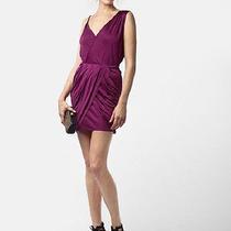 Nwt Rebecca Minkoff Delhia Short Draped Dress Wine Sz 4 Photo