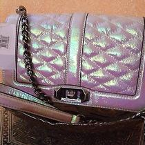 Nwt Rebecca Minkoff Love Quilted Affair Crossbody in Opal/antique Silver Photo