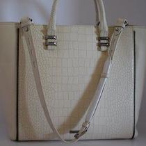 Nwt Rebecca Minkoff Mini Perry Tote Ivory Leather Croc Handbag Purse Shoulderbag Photo