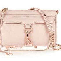 Nwt Rebecca Minkoff Quartz Pink Leather Rose Gold Mini Mac Crossbody Clutch Photo